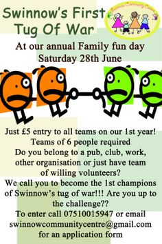 Swinnows first ever tug of war!! Are you up to the challenge?