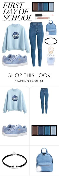"""First Day of School"" by indigoizzy247 ❤ liked on Polyvore featuring Puma, Marc Jacobs, Clé de Peau Beauté, BP. and Burberry"