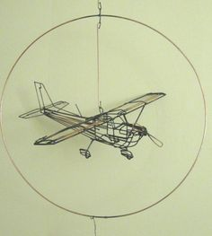 Wire Sculpture Cessna by WIREUHERE on Etsy