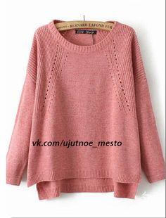 Хипстер-модник-пуловер спицами