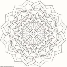 Flower Mandala Coloring Pages Mandala Coloring Pages, Pattern Coloring Pages, Free Coloring Pages, Coloring Books, Adult Coloring, Mandala Drawing, Mandala Painting, Dot Painting, Mandala Design