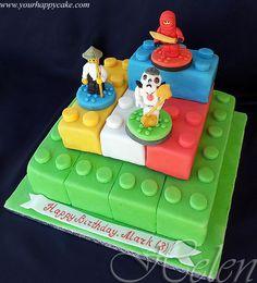 Ninjago Birthday Cake and Cupcakes ideas