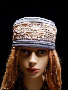 Hat Blue Jean Gypsy Antique Lace Hat by hatsbybuck on Etsy, $75.00