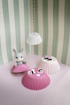 DIY dollhouse furniture made from cupcake papers!