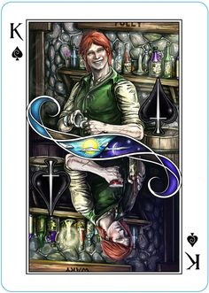 Kvothe (Ace of Space) from The Name of the Wind Playing Cards by Erik Dahlman — Kickstarter