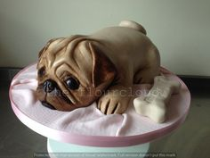 A lovely Pug birthday cake.