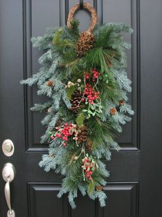 outdoor christmas swags wreaths google