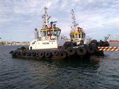 Un remolcador de barcos