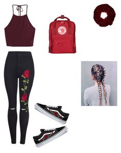 """""""•Rose•"""" by haileymagana on Polyvore featuring Vans, Miss Selfridge and Fjällräven"""