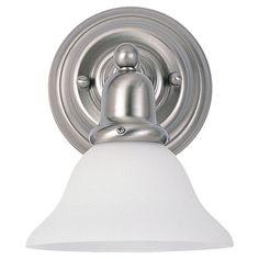 Sea Gull Lighting 44060 Sussex 1 Light Bathroom Sconce Brushed Nickel Indoor Lighting Bathroom Fixtures Bathroom Sconce