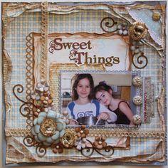 Sweet Things ***MY CREATIVE SCRAPBOOK*** plus a flower tutorial!! - Scrapbook.com