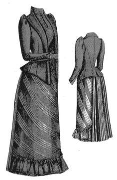 ageless pattern, 1891 Walking Dress w/Jacket Bodice