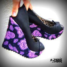 Not Your Girl Platform Vegan Wedges Shoes  by GabbieCustomArt