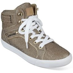 e4ad9bd21a007d No Offersguess Gold Sparkly Shoeslike New High Top Sneakers