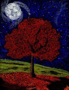 Stushie Art: Moon Tree
