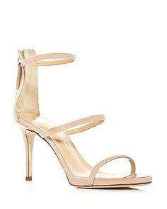 Giuseppe Zanotti Alien Triple Strap High Heel Sandals