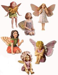 Mary Cicely Barker Flower Fairy Figurines-perfect for the Fairy Garden after a coating of polyurethane : ) Fairy Land, Fairy Tales, Fairy Tree Houses, Fairy Garden Furniture, Fairy Gifts, Fairy Jewelry, Fairy Figurines, Fairy Doors, Flower Fairies