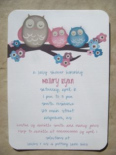 117 best twin baby shower images on pinterest baby shower mama owl pink and blue twins cherry blossoms baby shower invitations baby filmwisefo