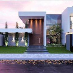 32 Ideas House Facade Lighting Architects For 2019 House Front Design, Modern House Design, Modern Exterior, Exterior Design, Interior Modern, Modern Architecture House, Architecture Design, Modern House Facades, Facade Lighting