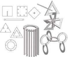 Cardboard Mayhem: interlocking shapes