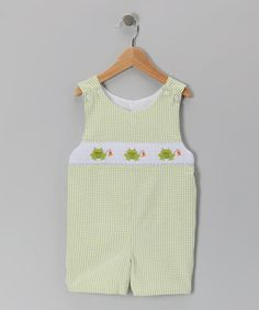 Take a look at this Green Fishing Frog John Johns - Infant & Toddler by Sweet Teas Children's Boutique on #zulily today!