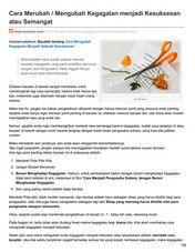 Pemalang - Tips Mengubah Kegagalan menjadi Kesuksesan atau Semangat - Page 4-5 - Created with Publitas.com
