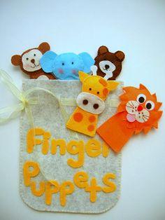 Finger puppetsanimal kingdom por Lilamina en Etsy