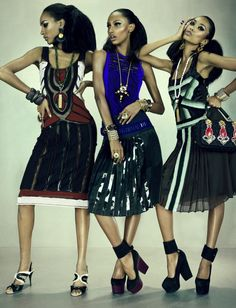 Anais Mali, Jasmine Tookes, Jourdan Dunn by Emma Summerton for W Magazine March 2012 4