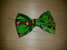 Check out this item in my Etsy shop https://www.etsy.com/listing/241164071/ninja-turtle-fabric-hair-bow