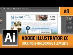 Adobe Illustrator CC 2014 Tutorial - Unlocking & Locking Elements - EP#8 - YouTube