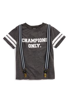 Champions Only Graphic T-Shirt & Suspenders Set (Toddler Boys, Little Boys & Big Boys)