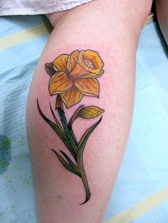 traditional tattoo daffodil tattoo emerald city tattoo flower tattoo ...