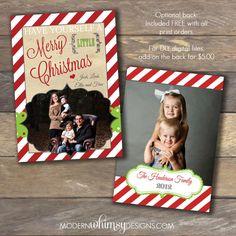Christmas Cards DIY Printable or Printed by ModernWhimsyDesign, $16.00