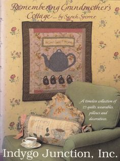 Remembering Grandma's Cottage by Sarah Sporrer - Quilting Pattern Book - Quilt Patterns - Decorative Quilted Pillows & Quilted Home Decor by SimplyCraftSupplies on Etsy