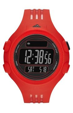 Men's adidas Performance 'Questra XL' Rubber Strap Watch