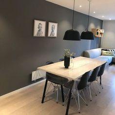 @lisa_p_b Living Room Tv, My House, New Homes, Dining Table, House Design, Wall, Lisa, Furniture, Jotun Lady