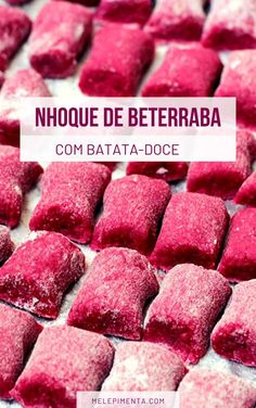 Beetroot Gnocchi with Sweet Potato Veggie Recipes, New Recipes, Vegetarian Recipes, Cooking Recipes, Healthy Recipes, Good Food, Yummy Food, Food Tasting, Vegan Foods