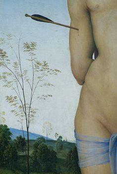 Perugino - Saint Sebastian, detail (1490) - Paris Louvre - Olga e Zanni