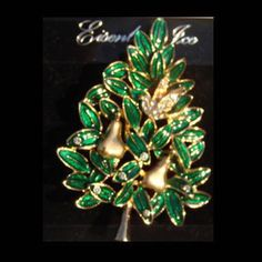 (Retired) Eisenberg Ice Christmas Partridge in a Pear Tree Pin ~ FREE SHIP LQQK! | eBay