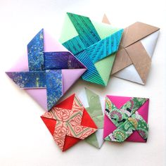 I made my Pinwheel Fold cards in two different sizes.