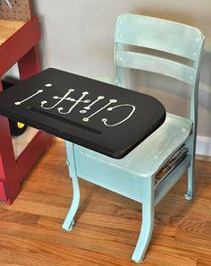 little school desk re-do idea