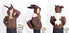 Items similar to Eevee hoodie on Etsy Patient Person, Big Puffy, Shadow The Hedgehog, Easy Video, Halloween 2016, Make Time, Hoodies, Ears, Stuff To Buy