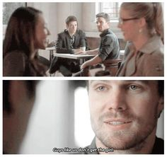 Oliver Queen and Barry Allen #TheFlashvsArrow ♥ Oliver you adorable man, I love you