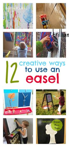 ideas for a child's art easel, simple easel art projects, process art ideas for preschool Toddler Easel, Toddler Play, Toddler Crafts, Toddler Activities, Art Easel, Fun Learning, Early Learning, Creative Play, Ideas