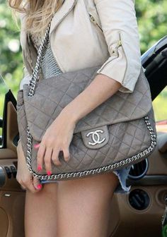 The Chanel Chain Around Large Shoulder Bag Ideas