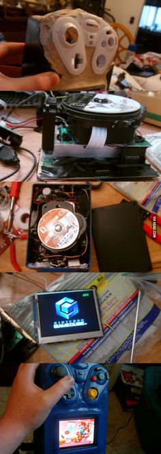 Friend built a full working, portable GameCube Arduino Bluetooth, Diy Pc, Portable Console, School Videos, All Games, Gaming Memes, Electronics Projects, Nintendo Games, Best Funny Pictures