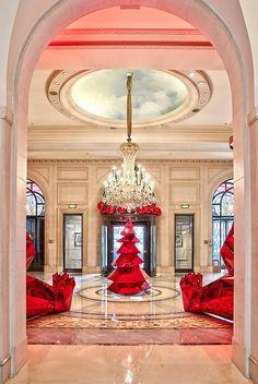 Hotel George V, Paris at Christmas.
