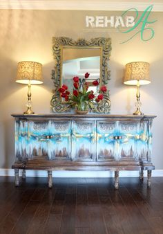 """""""Abstract Gold Leaf"""" Credenza"""