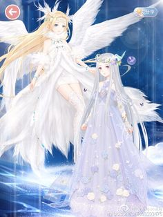 Angle & Elf  in the heaven By Orangecatty