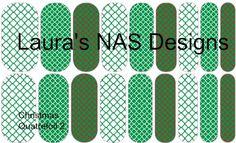 Christmas Quatrefoil 2  #NAS #Jamberry #NailArtStudio #NailArt #DIY #laurasnasdesigns